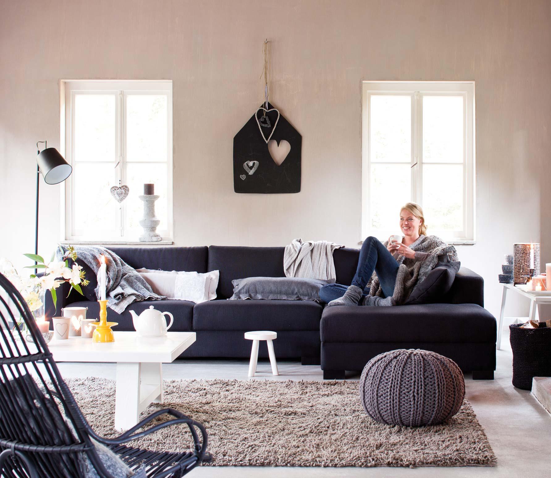 Jurre denfa hoekbank rechts diverse kleuren denfa zwart 29 - Zwarte bank lounge ...
