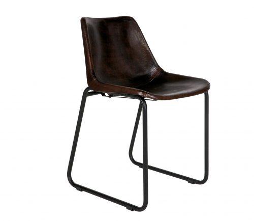 leren-stoel-rough-donkerbruin-bepurehome-donkerbruin