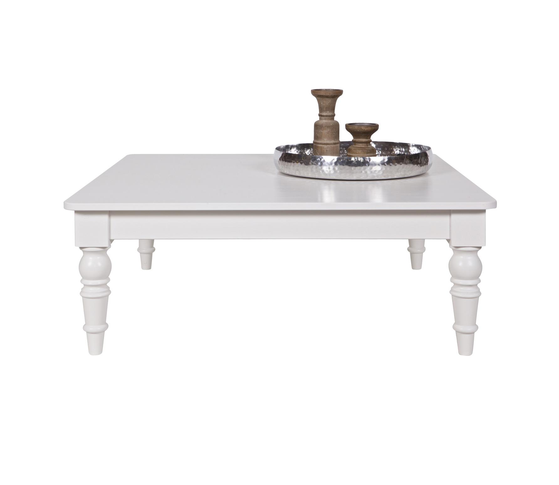 WOOOD Qwint salontafel vierkant wit grenen Wit   AllesWonen nl