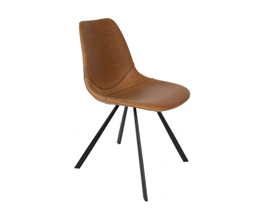 dutchbone-franky-stoel-bruin-pu-leer-bruin