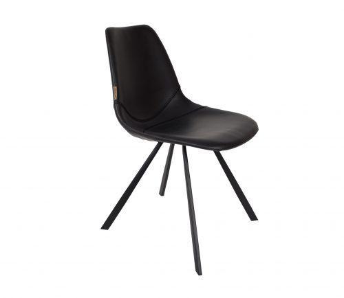 dutchbone-franky-stoel-zwart-pu-leer-zwart