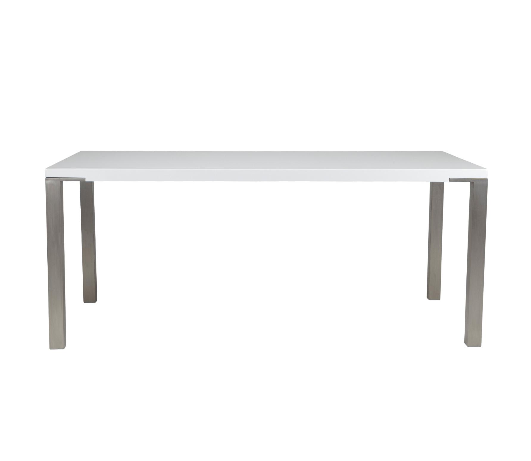 Witte Tafel 180x90.Eettafel Wit Met Rvs