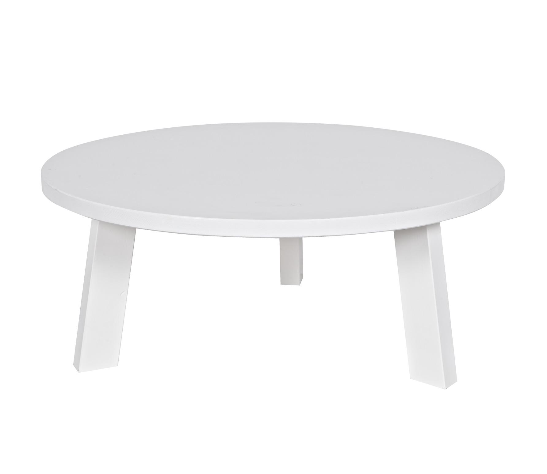 Witte Ronde Salon Tafel.Woood Rhonda Salontafel Wit Grenen O 80 Cm Wit